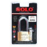 ขาย โซโล แม่กุญแจ กุญแจล็อค ทองเหลือง No 4507Nl 55Mm ห่วงยาว สีทอง Solo ใน ไทย