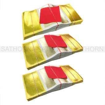 OEM กระดาษเงินกระดาษทอง กระดาษไหว้ เงิน และ ทอง สำหรับ พิธีไหว้เจ้า ไหว้ตรุษจีน ปึกละ 100 แผ่น ( จำนวน 3 ปึก )