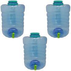 ราคา ถังน้ำดื่มใส รุ่นมีก๊อก ขนาด 20 ลิตร ถัง 3 ใบ แพ็ค ถูก