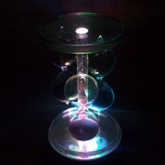 OH Round Crystal 4 LED Light Music Box Base Crystal Box Base Gift Box Decoration