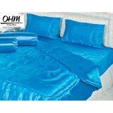ทบทวน ที่สุด Ohm ผ้าปูที่นอน ผ้าเครปซาติน 220 เส้น ขนาด 6 ฟุต 3 ชิ้น สีฟ้า