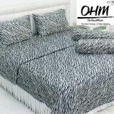 ขาย ซื้อ Ohm ผ้าปูที่นอน ผ้าซาตินแท้ 330 เส้น ขนาด 3 5 ฟุต 3 ชิ้น ลายทางม้าลายขาว ดำ ใน กรุงเทพมหานคร