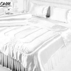 ขาย Ohm ผ้าปูที่นอน ผ้าเครปซาติน 220 เส้น ขนาด 3 5 ฟุต 3 ชิ้น สีขาว กรุงเทพมหานคร