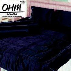 ส่วนลด Ohm ผ้าปูที่นอน ผ้าเครปซาติน 220 เส้น ขนาด 6 ฟุต 5 ชิ้น สีกรมท่า กรุงเทพมหานคร
