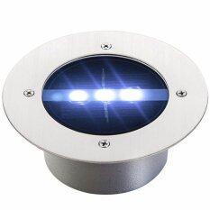 ซื้อ โคมไฟฝังพื้นโซล่าเซลล์ 3 Led เเสง สีขาว ออนไลน์ ถูก