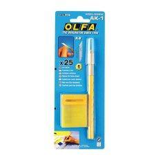 ราคา Olfa มีดคัตเตอร์ โอฟ่า Ak 1 Yellow ใน กรุงเทพมหานคร