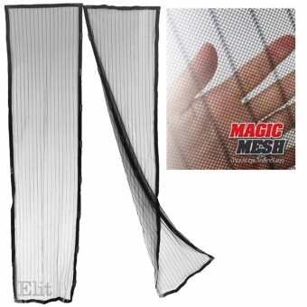 OMG ม่านแม่เหล็กกันยุง ม่านติดประตู ม่านติดหน้าต่าง Magic Mesh รุ่น MGM202-SI - สีดำ