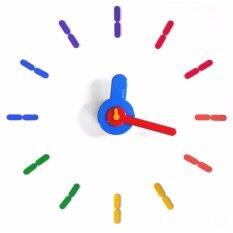 ขาย ซื้อ ออนไลน์ On Time นาฬิกาไม่เจาะผนัง สีรุ้ง