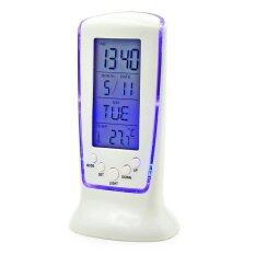 ซื้อ Orbia Square Clock 510 Fashion Lcd Alarm Clock With Calendar Digital Clock Thermometer Led Blue ถูก