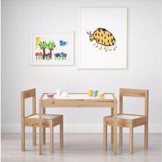 ซื้อ โต๊ะเด็ก เก้าอี้ 2 ตัว ขาว ไม้สน Me Time Unbranded Generic ออนไลน์