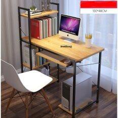 โปรโมชั่น โต๊ะคอมพิวเตอร์ ขนาด 1 เมตร รุ่นมีต่อข้าง Loft Style โครงดำ ไทย