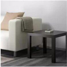โต๊ะข้าง โต๊ะรับแขก วางข้างโซฟา วางข้างเตียงนอน สีน้ำตาลดำ ขนาด55x55x45ซม.CK