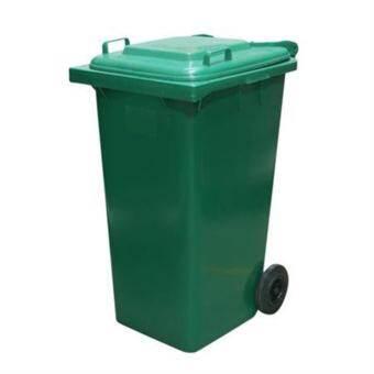 OTTO ถังขยะพลาสติกทรงเหลี่ยม ฝาเปิด-ปิด ขนาด 240 ลิตร (สีเขียว)