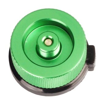 Outdoor Camping Picnic Stove Long-Flat Gas Bottle Adapter(Green) - intl