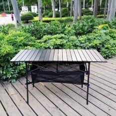 ซื้อ Outdoor Folding Desk Aluminum Table Portable Table Simple Table Leisure Rectangular Folding Aluminum Barbecue Table Picnic Foldable Travel Camping Table Intl ถูก