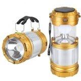 ราคา แบทสำรองตะเกียง Outdoor Led Solar Camping Light Flashlight Usb Power Bank Tent Lamp Lanternv2 Gold ใหม่ ถูก
