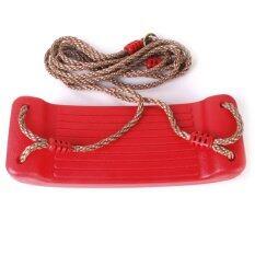 ราคา Outdoor Swing Set Seat With Rope Red ราคาถูกที่สุด