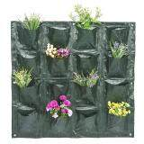 ขาย ซื้อ Outdoor Vertical Planting Container Bag Greening Wall Hanging Planter 16 Pockets Intl ใน จีน