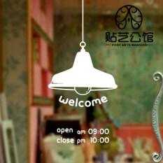 ขาย ซื้อ P 307 ร้านกาแฟชาร้านอาหารโคมระย้าสติ๊กเกอร์ติดผนังหน้าต่างสติกเกอร์