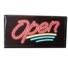 ขาย ป้ายไฟLed Open ขนาด50 26 ซม อักษร ตกแต่งหน้าร้าน Led Sign ข้อความ None ถูก