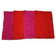 ทบทวน พรมเช็ดเท้าตัวหนอน พื้นยางกันลื่น ราคาพิเศษ Pack 4 ชิ้น สีชมพู2ชิ้น สีแดงสด 2 ชิ้น Size40Cmx58Cm