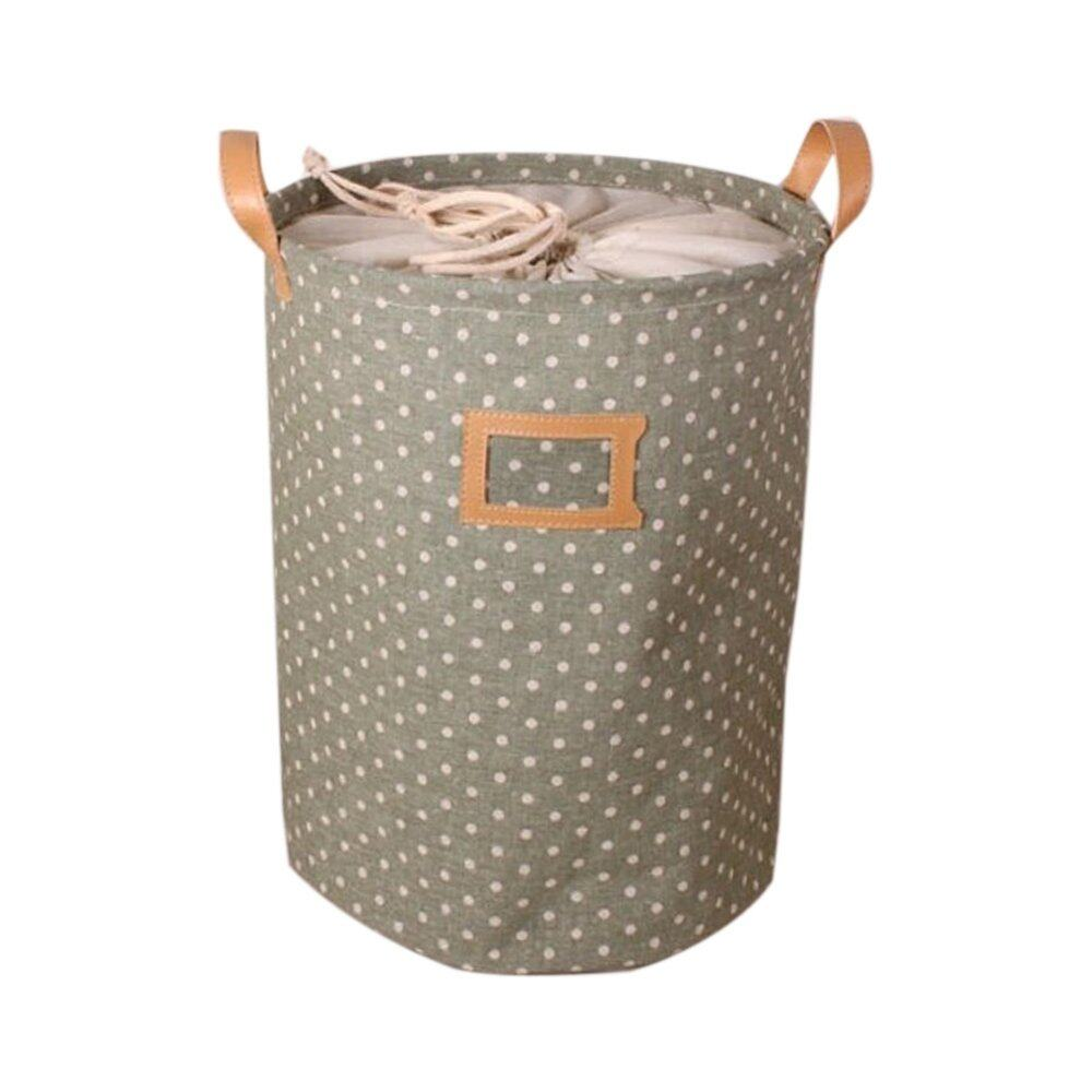 PAlight Barrel Shaped Drawstring Storage Bag (Green S) - intl
