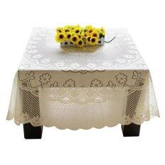 Palight Embroidery Lace Tablecloth 90 90Cm Square เป็นต้นฉบับ
