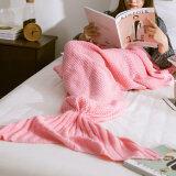 ส่วนลด Palight ถักผ้าห่มทำเป็นหางนางเงือก สีชมพู L Palight