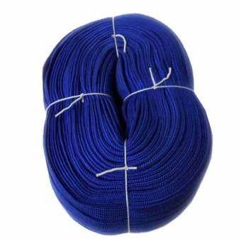 papamami เชือกผ้าถักแบน PP Rope กว้าง 19มม. – สีน้ำเงิน 100เมตร (1ม้วน)