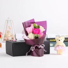 ขาย 6Pcs Artificial Soap Rose Flowers Flora With Baby Bear Doll In Gift Box For Valentine S Day Mother S Day Wedding Gift จีน