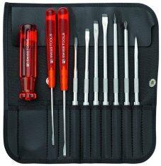 ทบทวน Pb Swiss Tools ชุดไขควง พร้อมซองหนังอย่างดี 10 ตัวชุด รุ่น Pb 215L