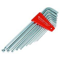 โปรโมชั่น Pb Swiss Tools ประแจหกเหลี่ยม หัวบอล ยาว ขนาด 1 5 10 มิล 9 ตัว ชุด รุ่น Pb 212Lh 10