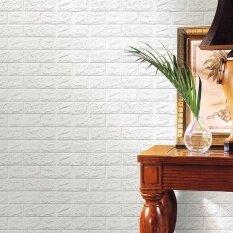 ซื้อ สติกเกอร์ตกแต่งผนัง Pe โฟม ลายนูน รูปอิฐ สีขาว Coconie ออนไลน์