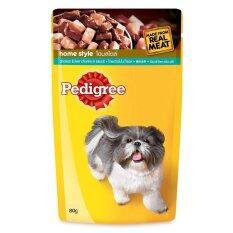 ขาย Pedigree Pouch สำหรับสุนัขโต รสไก่และตับ 130G 12 Units Pedigree ออนไลน์