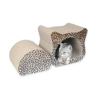 Pet8 ที่ลับเล็บแมว ทรงหัวแมวลายเสือ แถมฟรีหญ้า Catnip 1 ซอง สำหรับให้น้องแมวฝนเล็บเล่น อย่างสนุกสนาน