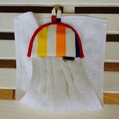 ผ้าเช็ดมือลายทางสลับสี เป็นต้นฉบับ