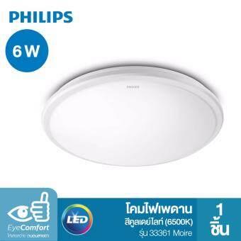Philips โคมไฟเพดาน LED สำเร็จรูป รุ่น 33361 Moire 6 วัตต์ สีคูลเดย์ไลท์ (6500K)