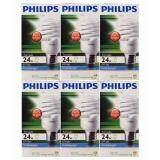ซื้อ Philips แพ๊ค 6 ดวง ถูกกว่า หลอด Tornado 24W เกลียว E27 แสง Cool Day Light หลอดประหยัดไฟ สุดคุ้ม