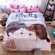 ขาย ซื้อ Pillow Land ผ้าปูที่นอน พร้อมผ้านวม 6 ฟุต 6 ชิ้น ลายหมอคัง 001