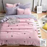 Pillow Land ผ้าปูที่นอน ชุดผ้านวม 6 ฟุต 6 ชิ้น B 202 เป็นต้นฉบับ