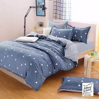 Pillow Land ผ้าปูที่นอน ชุดผ้านวม เกรด A 3.5 ฟุต 4 ชิ้น - รุ่น3.5F J201-