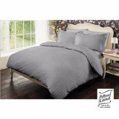 ขาย Pillow Land ผ้าปูที่นอน ชุดผ้านวม เกรด A 6 ฟุต 6 ชิ้น ลายริ้ว 102 ออนไลน์ กรุงเทพมหานคร