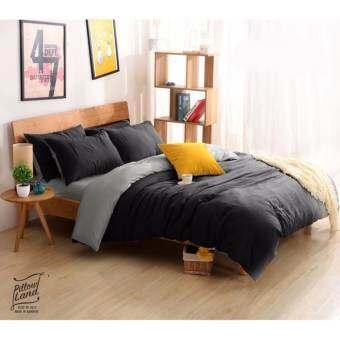 Pillow Land ชุดเครื่องนอน พร้อมผ้านวม 6 ฟุต 6 ชิ้น  - ทูโทน 114