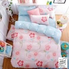 ขาย Pillow Land ผ้าปูที่นอน ชุดผ้านวม เกรด A 6 ฟุต 6 ชิ้น Sweet 010 ผู้ค้าส่ง