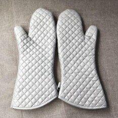 Pinkhomebakery ถุงมือกันร้อน ถุงมือป้องกันความร้อน 1 คู่.