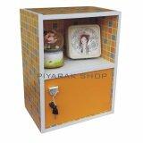 ราคา Piyalak Shop ตู้ล๊อกเกอร์ ตู้เก็บของ ตู้ข้างเตียง ชั้นไม้อเนกประสงค์ 1 ช่อง 2 ชั้น รุ่น Box 02 สีลายโมเสดเหลือง ใหม่