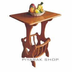ส่วนลด สินค้า Piyalak Shop โต๊ะกลาง โต๊ะข้าง โต๊ะวางโทรศัพย์ ชั้นไม้วางของอเนกประสงค์ รุ่น สี่เหลี่ยม มีกระเช้า ไม้สักทองแท้ 100 สีไม้สักทอง
