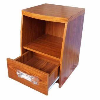 Piyalak shop ตู้ข้างเตียง ตู้ลิ้นชัก ตู้หัวเตียง ตู้เก็บของอเนกประสงค์ (สีลายไม้สัก)