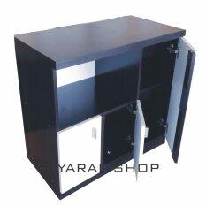 Piyalak Shop ชั้นไม้วางทีวี 80 ซม รุ่น Tv 80 Cm พร้อมบานเปิดปิด สีขาว โอ๊ด เป็นต้นฉบับ