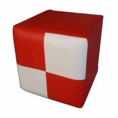 Piyalak Shop เก้าอี้ทรงสตูล เบาะสี่เหลี่ยม หุ่มหนัง Pvc รุ่น Stool สีแดง ขาว ใน กรุงเทพมหานคร